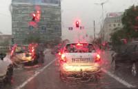 Ulewa na drogach w Gdańsku
