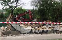Rozbiórka budynku przy al. Zwycięstwa w Gdyni