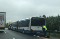Zepsuty autobus na obwodnicy i korek