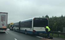 Zepsuty autobus na obwodnicy i korek w...