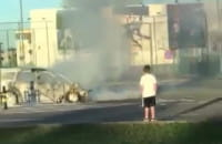Strażacy ugasili palące się auto