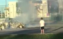Strażacy ugasili palące się auto przy...