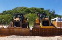 Ciężki sprzęt na plaży w Jelitkowie