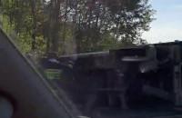 Korek po wypadku na obwodnicy w kierunku Gdańska