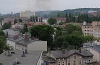 Dym widoczny we Wrzeszczu