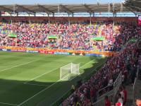 Hymn Polski przed meczem z Włochami w Gdyni