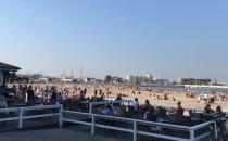 Słoneczna pogoda na plazy Śródmieście