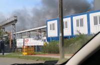 Pożar przy ul. Hutniczej
