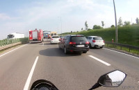 Obwodnica Straszyn w stronę A1 wypadek Tira 17.30