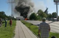 Pożar samochodu na Jasieniu w Gdańsku