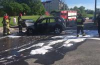 Skutki pożaru auta na Jasieniu Gdańsk