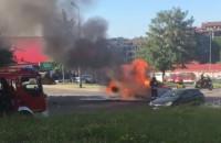Pożar auta Gdańsk Jasień 14.6.2019