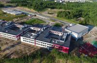 Nowa szkoła przy Jabłoniowej z lotu ptaka