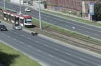 Wypadek z udziałem skutera na Podwalu Przedmiejskim