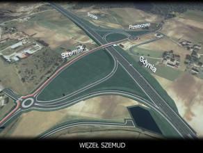 Wizualizacja Trasy Kaszubskiej odc. Szemud - Luzino