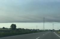 Smuga dymu ciągnie się raczej w kierunku Wiślinki
