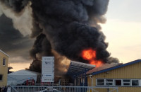 Pożar przy trakcie św. Wojciecha