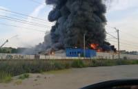 Pożar hali przy Trakcie św. Wojciecha