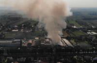 Pożar Gdańsk Orunia 26.06.2019 z lotu ptaka