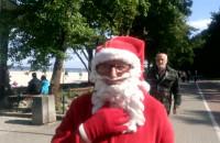 Mikołaj w środku upalnego lata w Gdyni