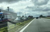 Korek na obwodnicy od węzła Południe do Karczemek