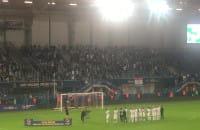 Wspólna radość piłkarzy i kibiców Lechii Gdańsk po zdobyciu superpucharu