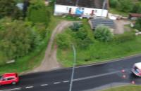 Wypadek koło szkoły w Kolbudach
