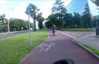 Dwie osoby na rowerze MEVO