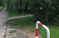 Tak wygląda wejście na osiedle na Oruni