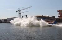 Wodowanie Zodiak II w Remontowa Shipbuilding