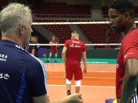 Reprezentacja Polski siatkarzy trenuje w Ergo Arenie