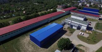 Centrum Techniki Okrętowej widok z drona