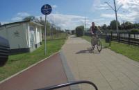 Nierozważny rowerzysta w Gdańsku