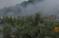 Skutki pożaru w tunelu pod Forum Gdańsk