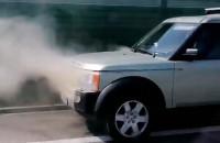Dymiące auto na obwodnicy