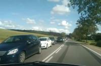 Korek na wjeździe do Żukowa