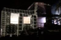 Światłocienie, mapping na koszarach Westerplatte