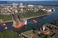 """Platforma """"Petrobaltic"""" opuszcza stocznię """"Remontowa"""""""