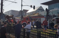 Wypadek autokaru i tramwaju na wysokości Bramy Wyżynnej