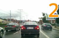 Samochody na buspasie w Gdańsku