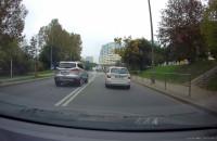 Pirat drogowy na skrzyżowaniu na Witominie
