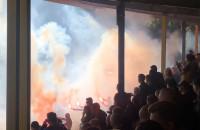 Gryf Wejherowo - Lechia Gdańsk. Pirotechnika przerywa mecz Pucharu Polski