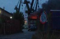 Pożar na terenie stoczni w Gdańsku