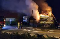 Pożar domu w Gdańsku na Łostowicach