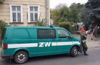 Żandarmeria na ul. Lendziona w Gdańsku