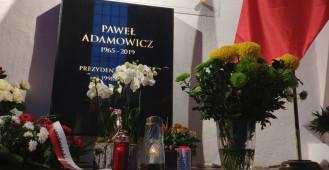 Gdańszczanie przy grobie prezydenta Adamowicza