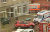 Pożar przy ul. Chylońskiej w Gdyni. Jedna osoba poszkodowana