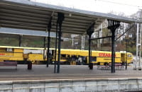 Podbijarka torowa na dworcu w Gdańsku