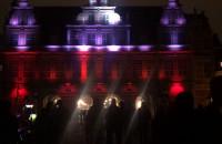 Biało-czerwona iluminacja Zielonej Bramy 11 listopada 2019