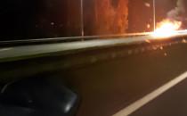 Pożar samochodu na s7 w kierunku Elbląga